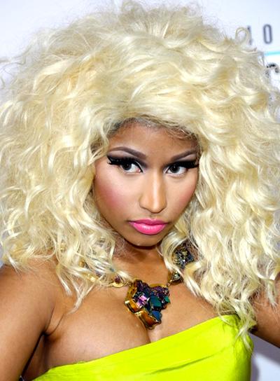 Nicki Minaj's Long, Blonde, Wavy, Tousled Hairstyle