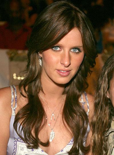 Nicky Hilton Romantic, Wavy, Brunette Hairstyle