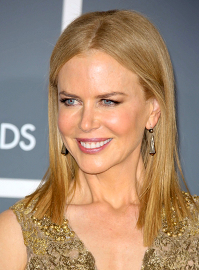 Nicole Kidman's Straight, Chic, Sophisticated, Party Hairstyle