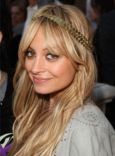 Nicole Richie Long, Blonde, Tousled Hairstyle