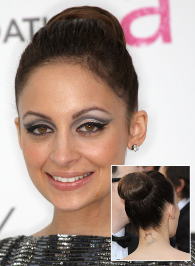 Nicole Richie Chic, Straight, Brunette Updo