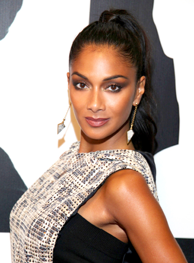 Nicole Scherzinger's Long, Chic, Brunette, Ponytail Hairstyle