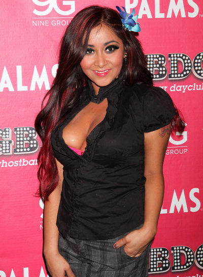 "Nicole ""Snooki"" Polizzi Long, Edgy, Funky Hairstyle"
