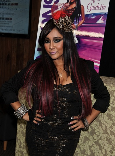 "Nicole ""Snooki"" Polizzi Long, Straight, Edgy, Funky Hairstyle"