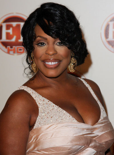 Niecy Nash Sophisticated, Curly, Black Updo