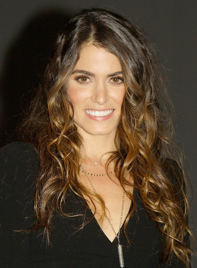 Nikki Reed's Long, Curly, Tousled, Brunette, Hairstyle