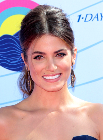 Nikki Reed's Long, Tousled, Brunette, Ponytail Hairstyle