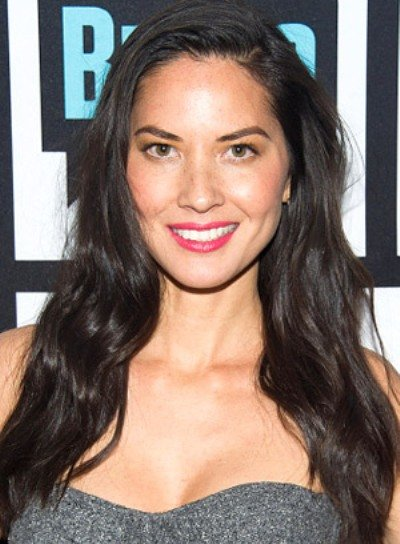 Olivia Munn with a Long, Tousled, Sexy, Brunette Hairstyle Pictures