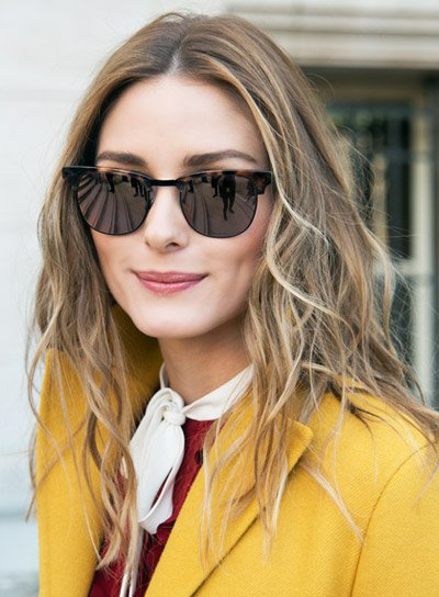 Olivia Palermo's Medium, Wavy, Blonde, Edgy Hairstyle