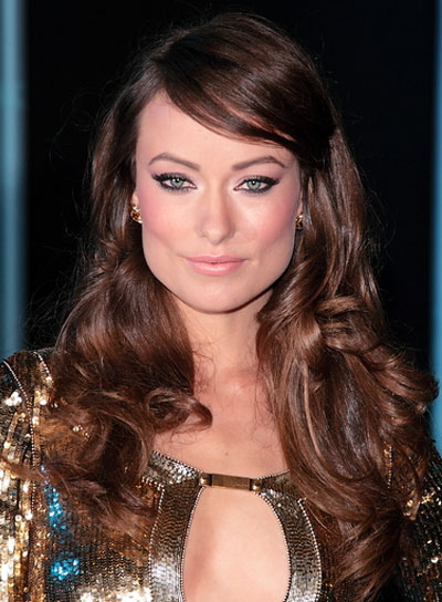 Olivia Wilde Long, Curly, Sophisticated, Brunette Hairstyle