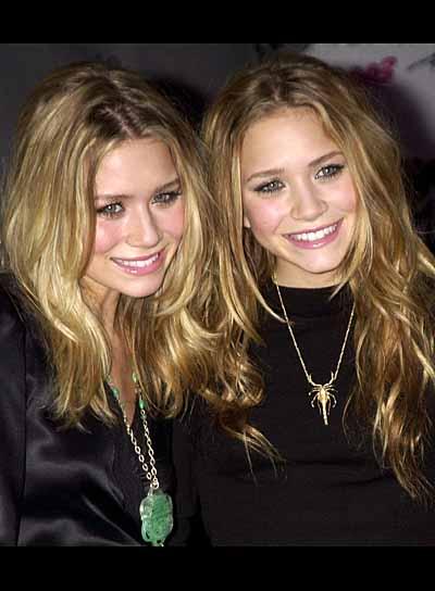 Olsen Twins Blonde, Layered Hairstyles