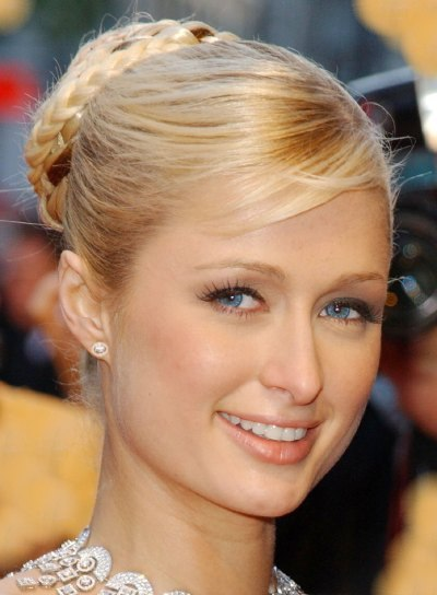 Paris Hilton Sophisticated, Braided Updo
