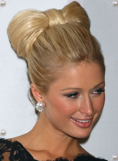 Paris Hilton Blonde, Party Updo