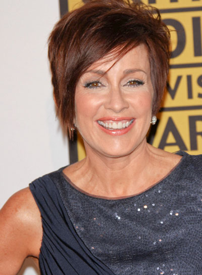 Patricia Heaton Short, Straight, Layered, Edgy, Brunette Hairstyle