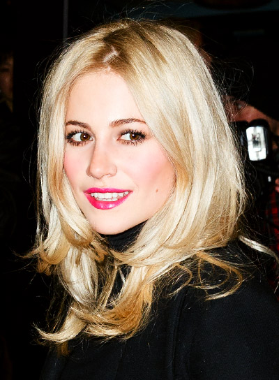 Pixie Lott with a Medium, Blonde, Layered, Chic Hairstyle Pictures