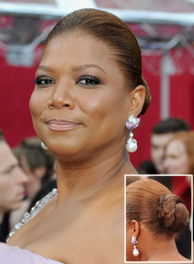 Queen Latifah Straight, Funky, Chic Updo