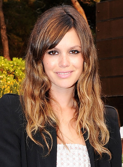 Rachel Bilson's Long, Wavy, Tousled Hairstyle with Bangs