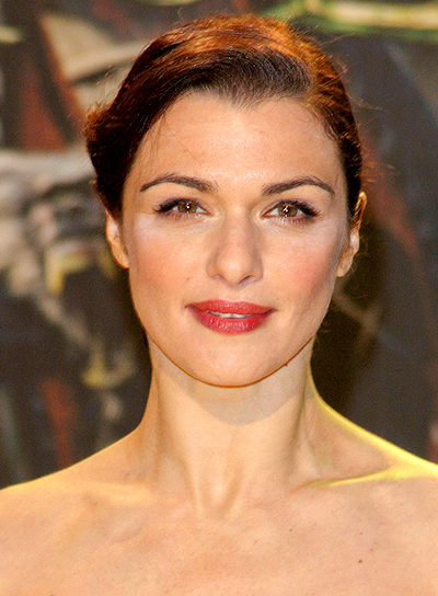Rachel Weisz's Brunette, Chic, Sophisticated, Updo Hairstyle