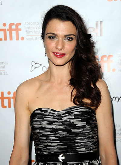 Rachel Weisz's Long, Curly, Sophisticated, Brunette Hairstyle