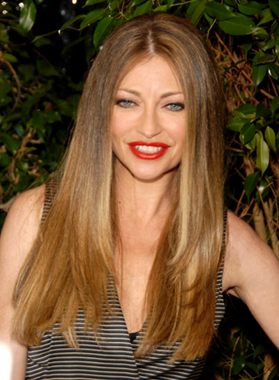 Rebecca Gayheart Long, Straight, Layered, Blonde Hairstyle with Highlights