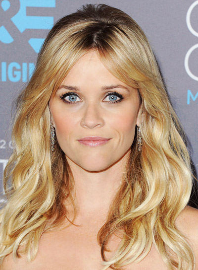 Reese Witherspoon with a Long, Blonde, Wavy Hairstyle with Bangs Pictures