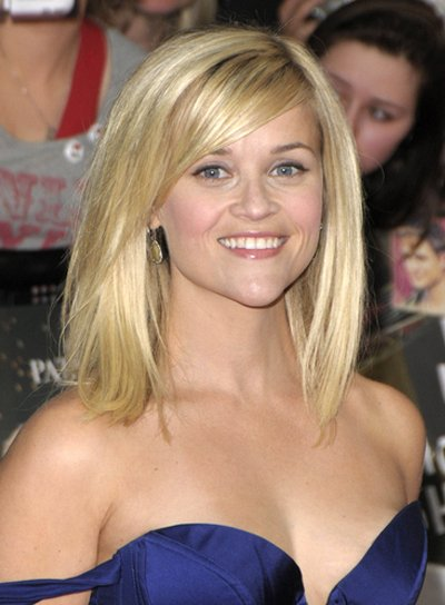 Reese Witherspoon Medium, Chic, Romantic Hairstyle