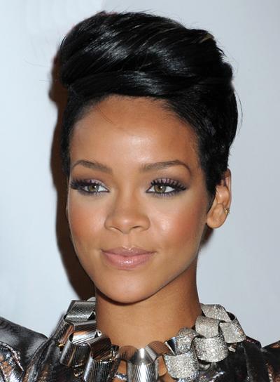 Rihanna Short Updo