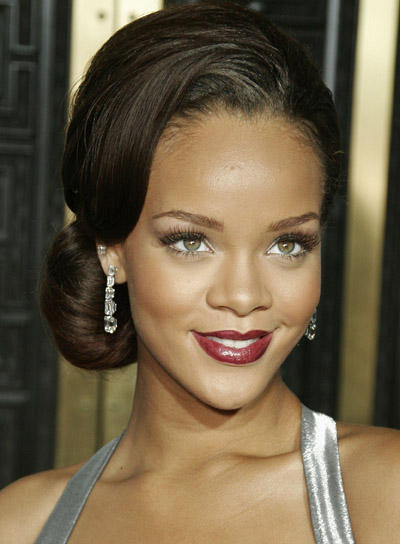 Rihanna Sophisticated Updo