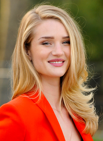 Rosie Huntington-Whiteley's Blonde, Long, Sexy, Straight Hairstyle