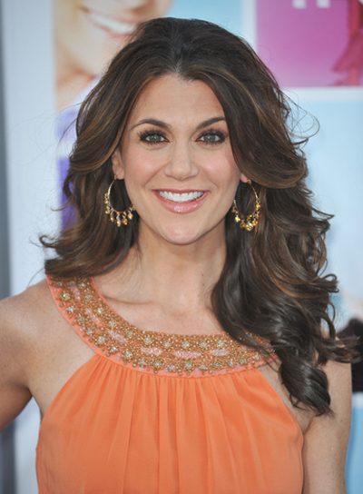 Samantha Harris Long, Layered, Brunette Hairstyle with Highlights