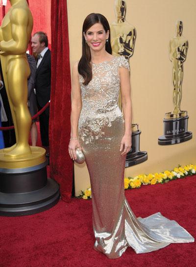 Sandra Bullock Formal, Romantic Hairstyle