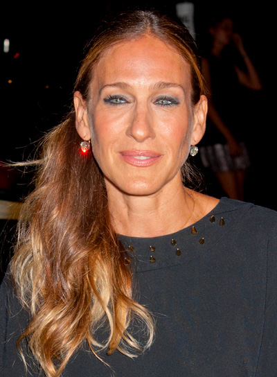 Sarah Jessica Parker's Long, Sophisticated, Blonde, Ponytail Hairstyle