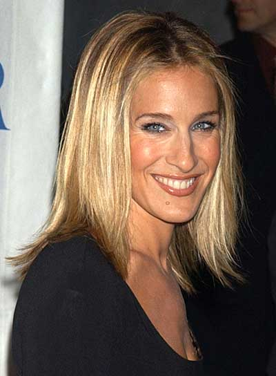 Sarah Jessica Parker Long, Straight, Blonde Hairstyle