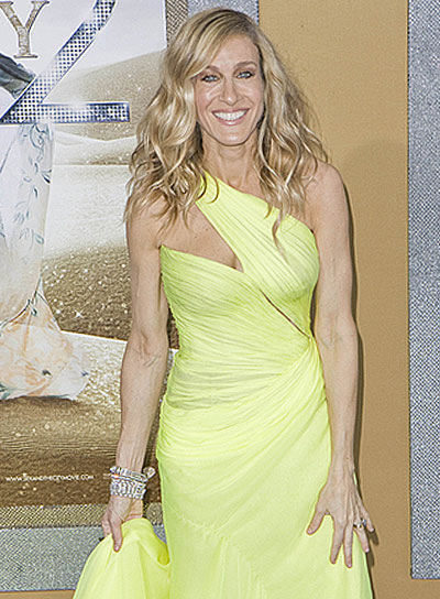 Sarah Jessica Parker Long, Wavy, Blonde Hairstyle