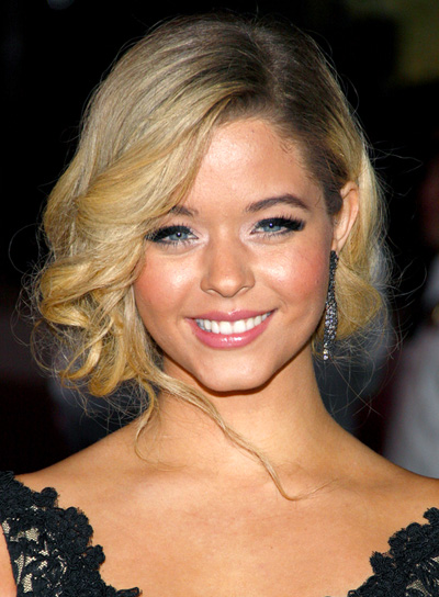Sasha Pieterse's Curly, Blonde, Homecoming, Updo Hairstyle
