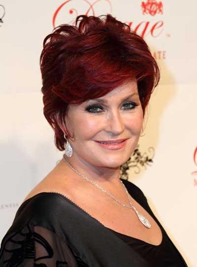 Sharon Osbourne Short, Red Hairstyle