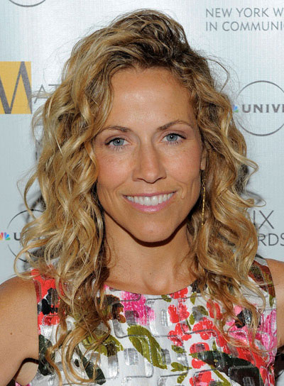 Sheryl Crow Long, Blonde, Sophisticated, Curly Hairstyle