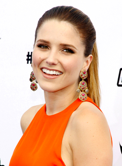 Sophia Bush's Chic, Long, Straight, Sophisticated Ponytail Hairstyle