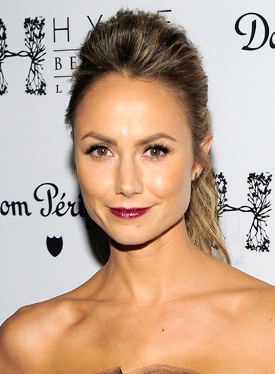 Stacy Keibler's Funky, Party, Updo, Ponytail, Hairstyle