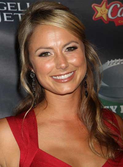 Stacy Keibler Long, Romantic, Blonde Half Updo