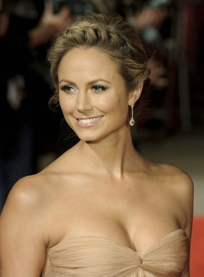 Stacy Keibler Sophisticated, Blonde Updo with Braids and Twists