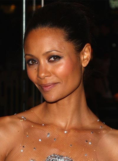 Thandie Newton Straight Black Updo