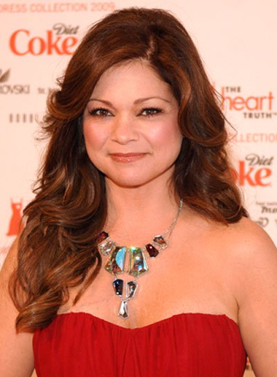 Valerie Bertinelli Long, Curly, Romantic, Brunette Hairstyle