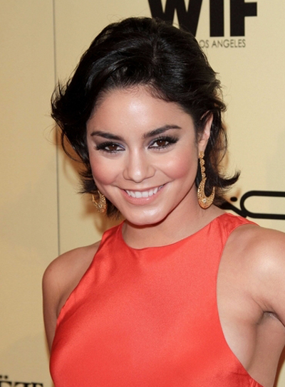 Vanessa Hudgens Short, Layered, Black Hairstyle