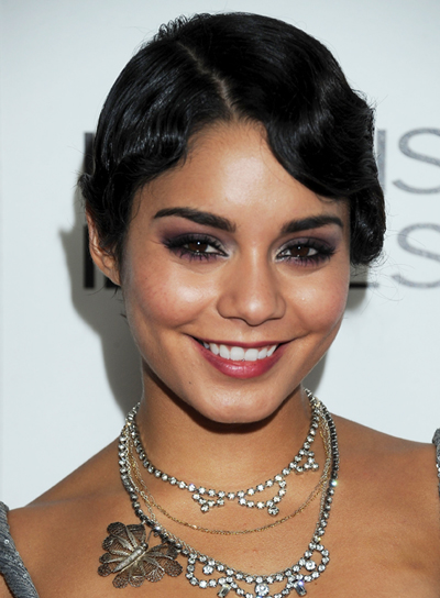 Vanessa Hudgens Short, Wavy, Romantic, Sophisticated, Black Hairstyle