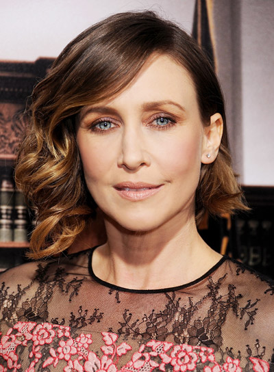 Vera Farmiga with a Short, Curly, Brunette, Bob Hairstyle Pictures