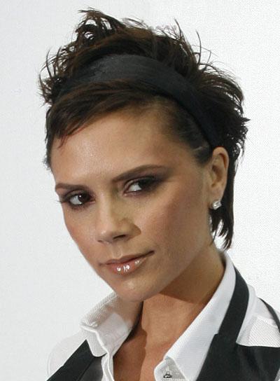 Victoria Beckham Short, Funky Hairstyle