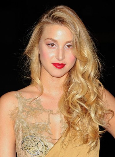 Whitney Port Long, Curly, Elegant, Romantic Hairstyle