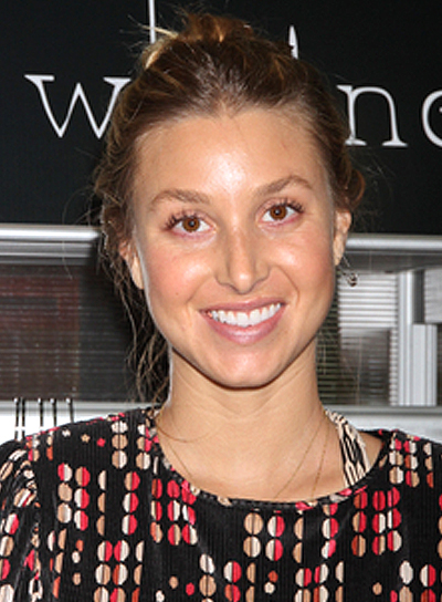Whitney Port's Blonde, Tousled, Romantic, Updo Hairstyle