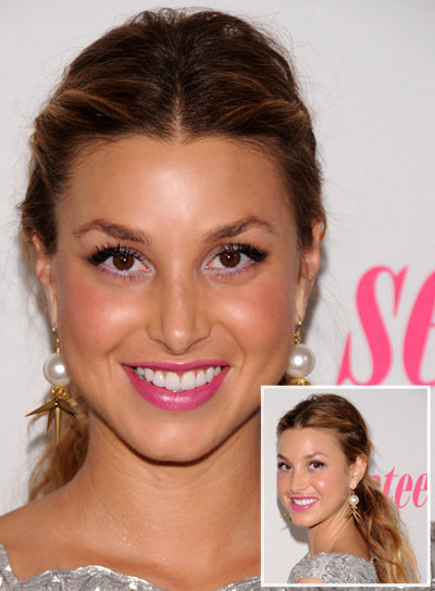 Whitney Port Long, Tousled, Blonde Ponytail